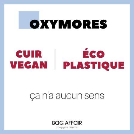 Définition Oxymores cuir vegan et éco plastique sur une visuel